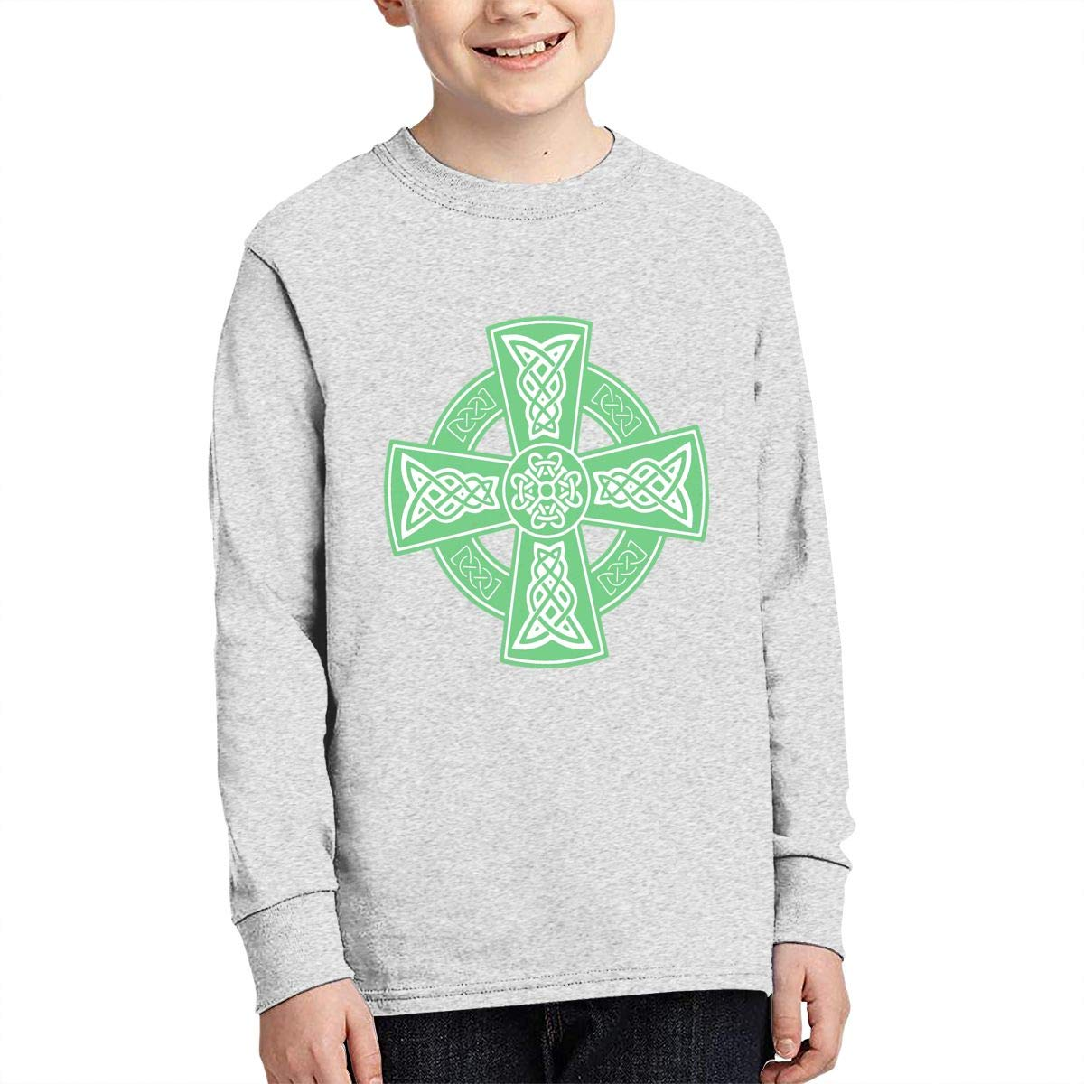 Celtic Cross Ancient Celtic Symbols Juvenile Unisex Cotton Long Sleeve Round Neck Sweatshirt