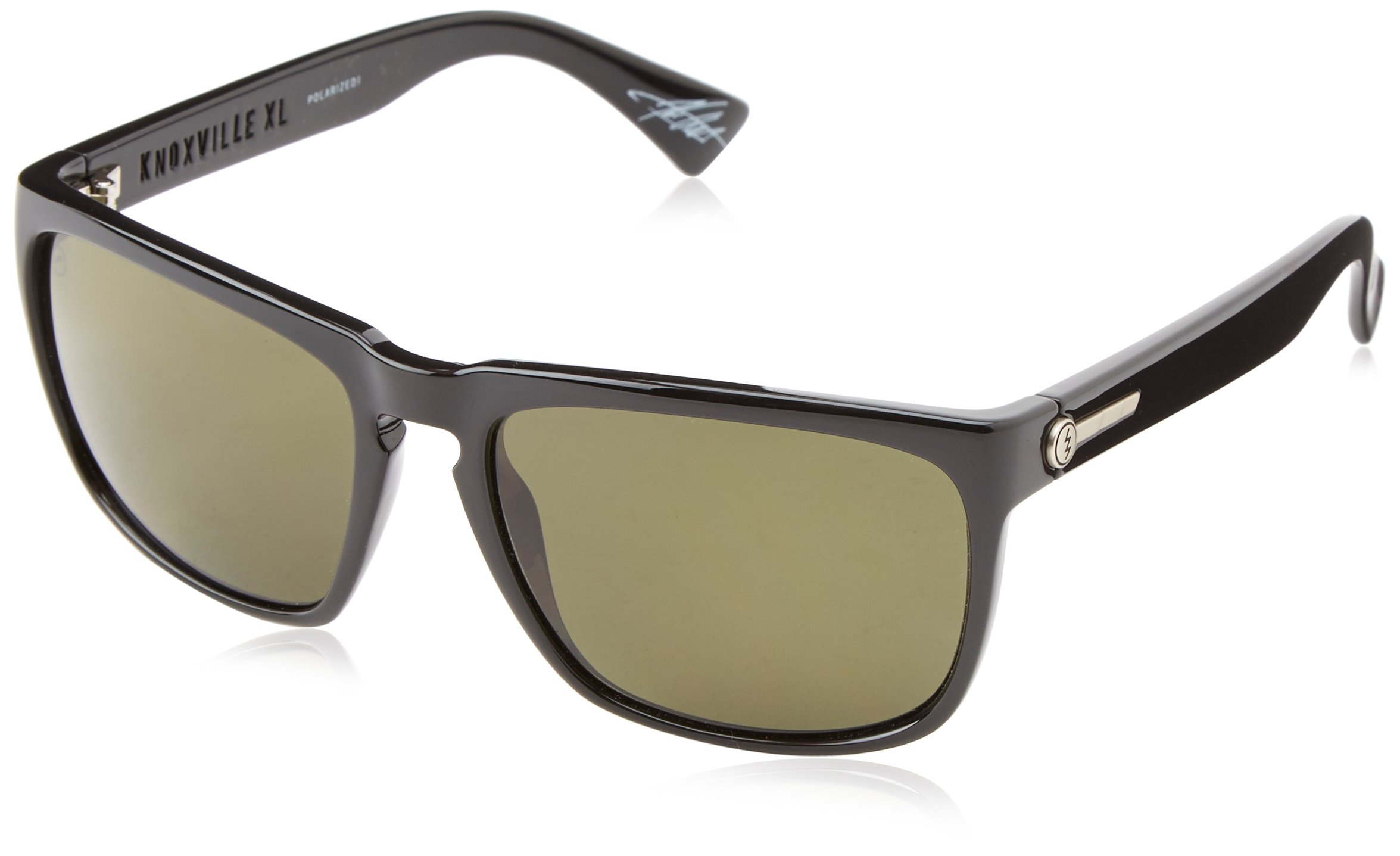 461d501377 Electric Visual Knoxville XL Gloss Black OHM Polarized Grey Sunglasses
