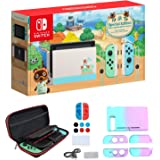 "Newest Nintendo Switch with Green and Blue Joy-Con - Animal Crossing: New Horizons Edition - 6.2"" Touchscreen Screen…"