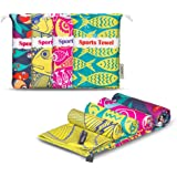 4Monster Microfiber Beach Towel for Travel Quick Dry Super Absorbent Lightweight Towel for Swimmers, Sand Free Towel, Beach T