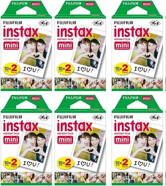 Fujifilm Instax Mini Instant Film (6 paquetes de dos, 120 fotos totales) para cámaras Instax: Amazon.es: Electrónica