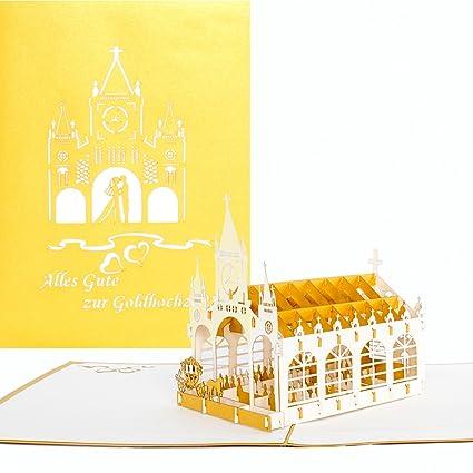 pop-up tarjeta para bodas de oro Alles Gute para bodas de oro ...