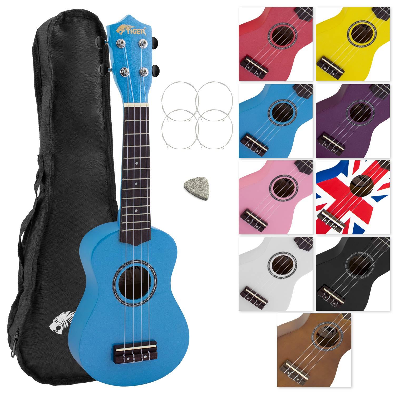 Tiger UKE7-BL - Ukelele soprano para principiantes, color azul product image