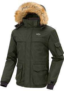 Wantdo Men s Fur Hood Waterproof Fleece Ski Jacket Windbreaker with  Detachable Hood Multi-Pockets 7df2e8be8