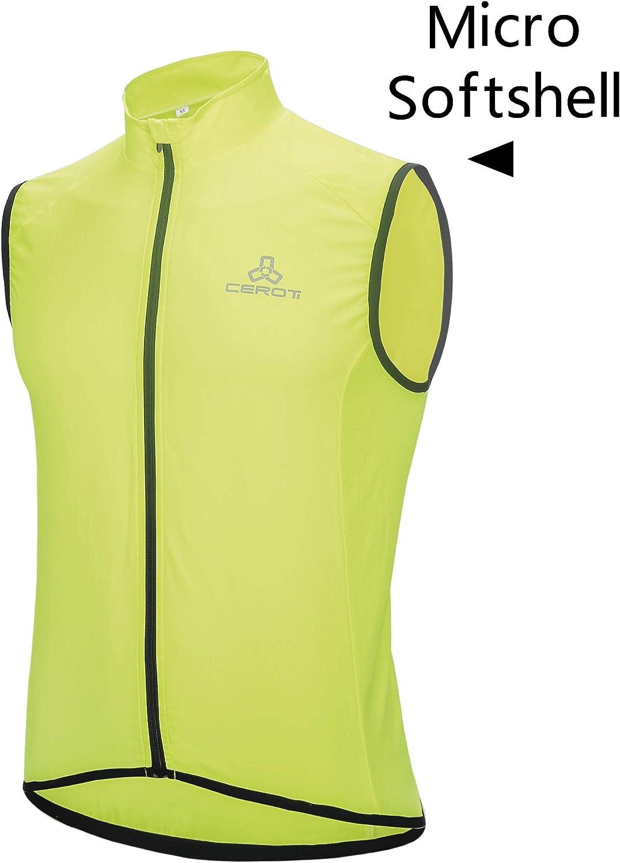 Reflective Vest Cycling Vest High Visibility Windproof Bicycle Gilet Bike Jersey