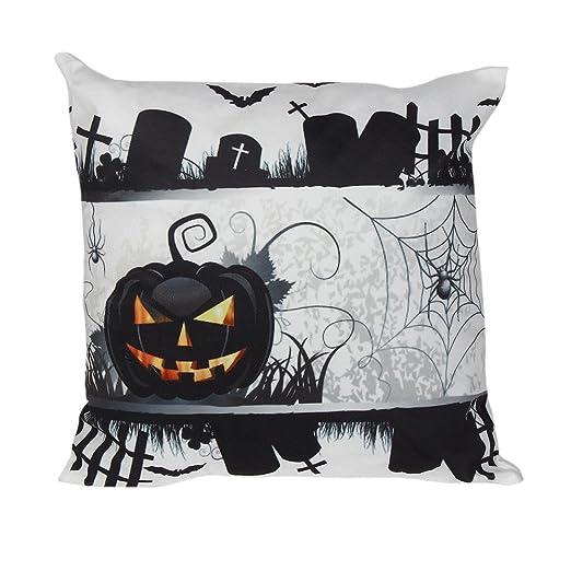 LANDFOX País Fox Almohada Halloween Super Suave algodón Lino ...
