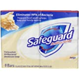 Safeguard Antibacterial Soap, Beige, Bath Size Bars, 16 Count
