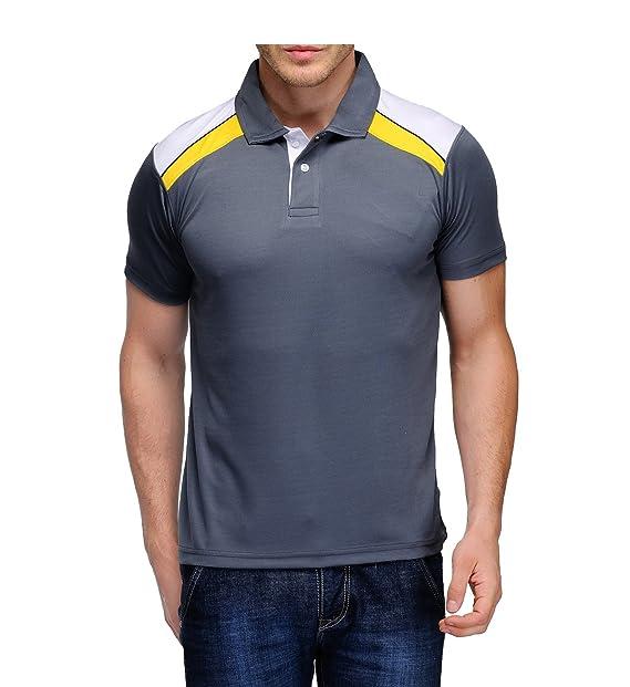Scott International Men s Jersey Collar Neck Sports Dryfit T-Shirt - Grey -  sck3s 368437b73