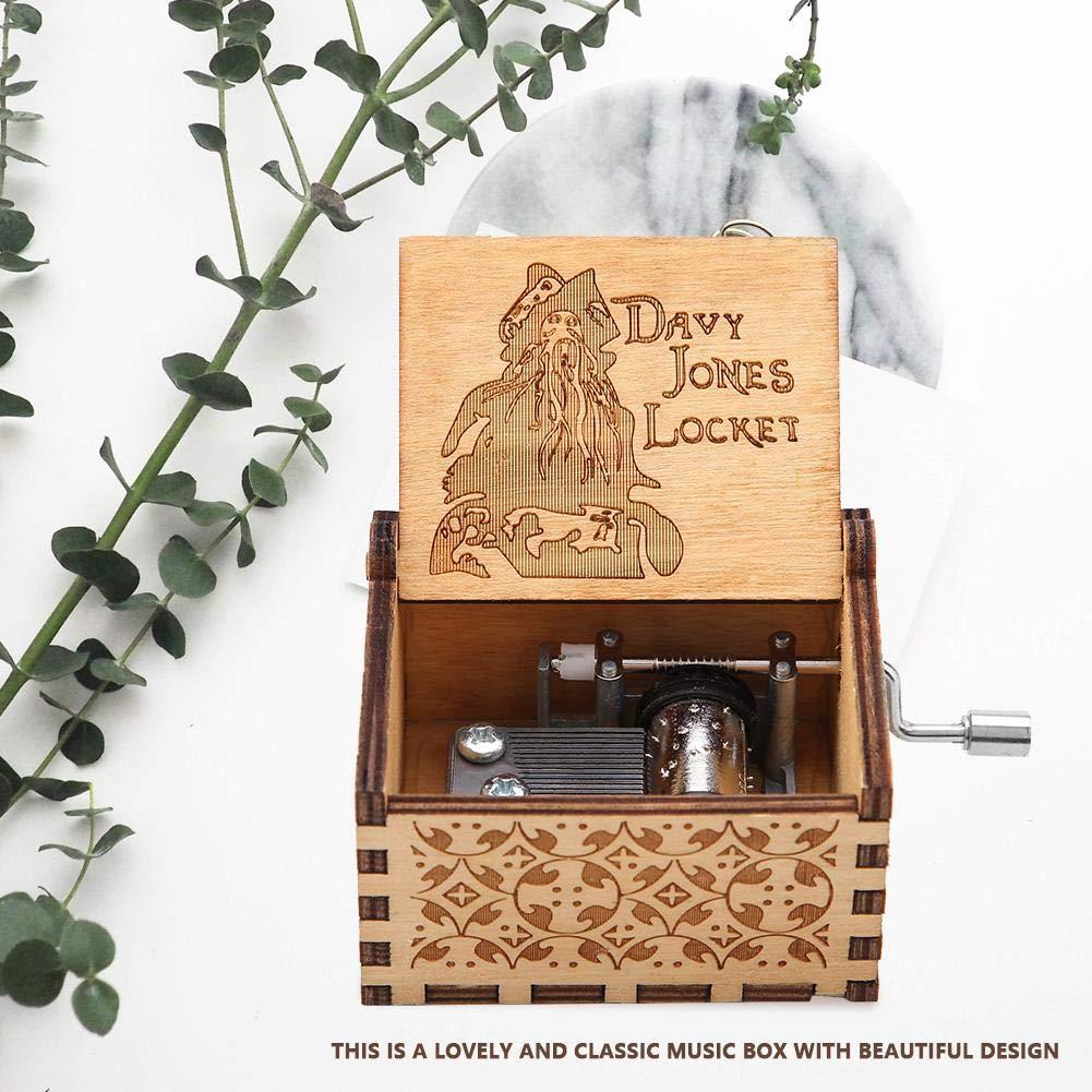 Game of Thrones Bo/îte /à Musique M/écanique en Bois Sculpt/é /à la Main Cadeau danniversaire Artisanal Hilitand Bo/îte /à Musique /à Manivelle