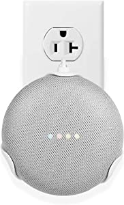 LANMU Wall Mount for Google Home Mini,Outlet Shelf Plug-in Bracket Holder for Google Home Mini Smart Voice Assistants,Google Home Mini Space-Saving Accessories
