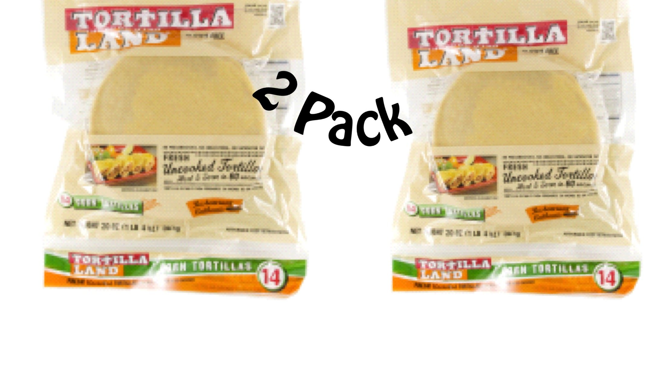 Uncooked Corn Tortillas All Natural Ingredients Pack of 2 Multi-pack! Gluten Free