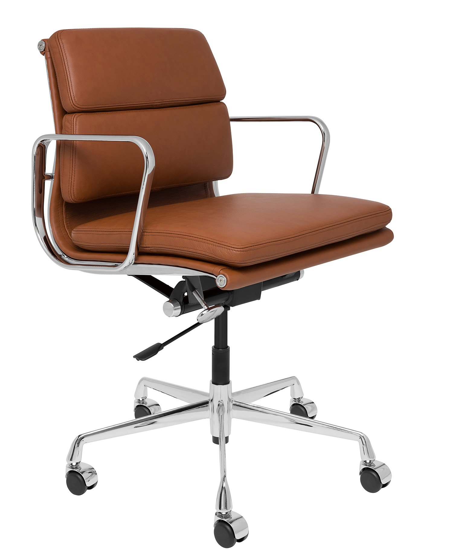 SOHO Premier Management Chair (Soft Pad, Brown) by Laura Davidson Furniture