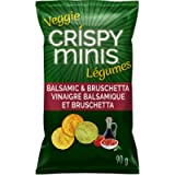 QUAKER CRISPY MINIS Gluten-Free Balsamic & Bruschetta Multigrain Chips with Vegetables, 90 g
