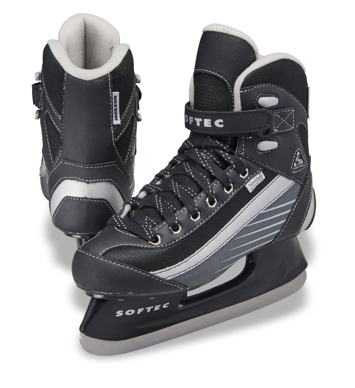 Jackson Ultima Softec Sport ST6107 Black Ice Skates for Boys, Size: Youth 1 (Kids)