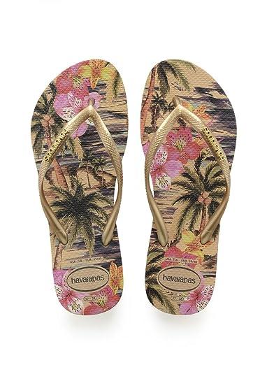 Havaianas Damen Flip Flops Slim Tropical Grösse 35/36 EU (33/34 Brazilian) Rose Zehentrenner für Frauen 3lTN2qruy