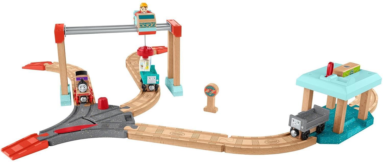 きかんしゃトーマス 木製レールシリーズ いじわる貨車いたずら貨車とチャーリーのクレーンセット FHM66 B075DHJXN4