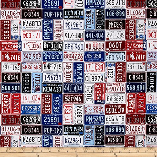 American Homecoming License Plates Americana Fabric By The Yard (License Plate Machine compare prices)