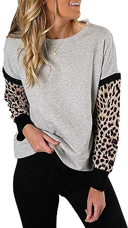 ETCYY NEW Women Leopard Print Oversized Hoodies Coat Zip Up Faux Shearling Cardigan Jacket Sweatshirt with Pocket Outwear