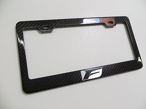 Amazon.com: Deepro F Sport Real Carbon Fiber License Plate Frame ...