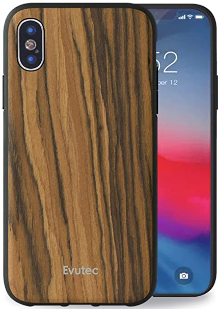 Evutec Case Compatible With Iphone X Xs Aer Series Wood Case Thin Slim Protective Phone Case For Iphone X Xs Burmese Rosewood Afix Vent Mount