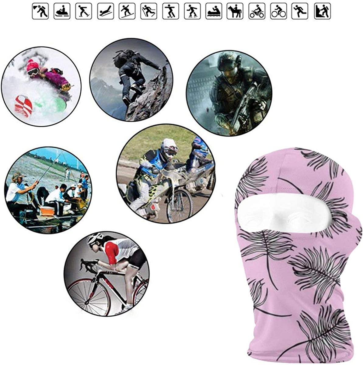 CAClifestyle Leaves Background Unisex Windproof Balaclavas Full Face Mask Hood