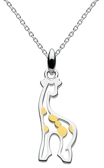 gift be giraffe stand strong plated necklace message ebay bhp tall and silver card