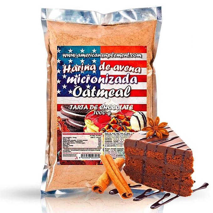 American Suplement - Harina de Avena Micronizada - 1kg (TARTA DE CHOCOLATE): Amazon.es: Salud y cuidado personal