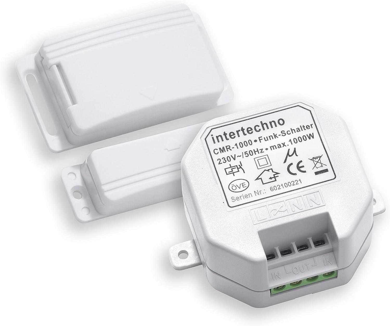 Funk-Einbauschalter Fenster Magnetkontakt Smartwares Funk Abluftsteuerung f/ür Dunstabzugshauben