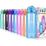 HoneyHolly Botella de Agua Deportiva -500ml & 750ml & 1000ml - Sin BPA, Apertura con un Solo botón-Yoga, Senderismo, Viajes, Oficina- Adulto, Botella de Agua para niños
