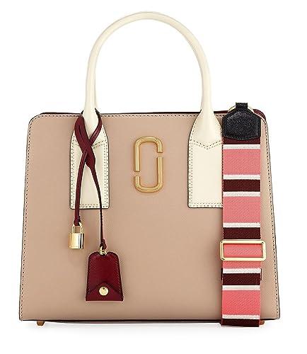 e4932b4448b3 Amazon.com  Marc Jacobs Big Shot Saffiano Leather Tote Bag