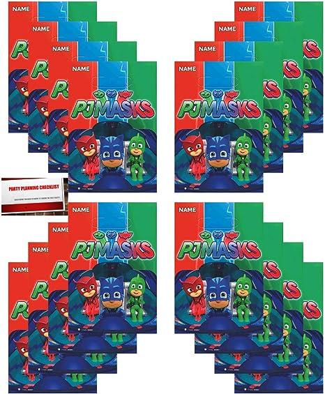 Amazon.com: PJ Masks - Paquete de 16 bolsas de plástico para ...