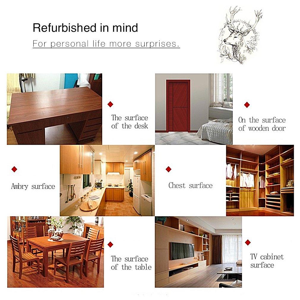 2pcs KINLO Aufkleber Küchenschränke 0.61x5M Beige Holz Möbelfolie ...