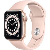 Apple Nuevo Watch Series 6 (GPS • Caja de Aluminio Color Oro de 40 mm • Correa Deportiva Color Arena Rosa - Estándar