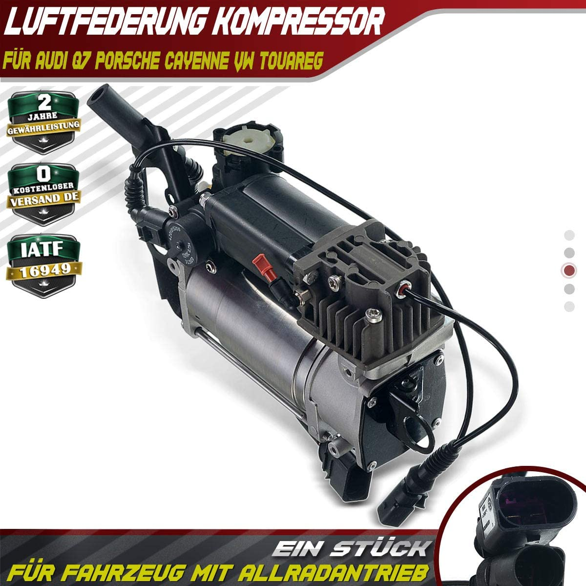 Compresseur dair pour Q7 4LB Cayenne 955 9PA Touareg 7LA 7L6 7L7 2000-2015 7L8616007F
