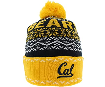 798cf4f81e1cce Top of the World Mens Cal Golden Bears Ugly Sweater Pom Beanie Black One  Size