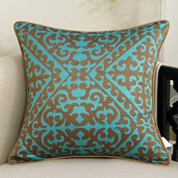 ACZZ Cojines de sofá bordados de estilo europeo Almohada junto a ...