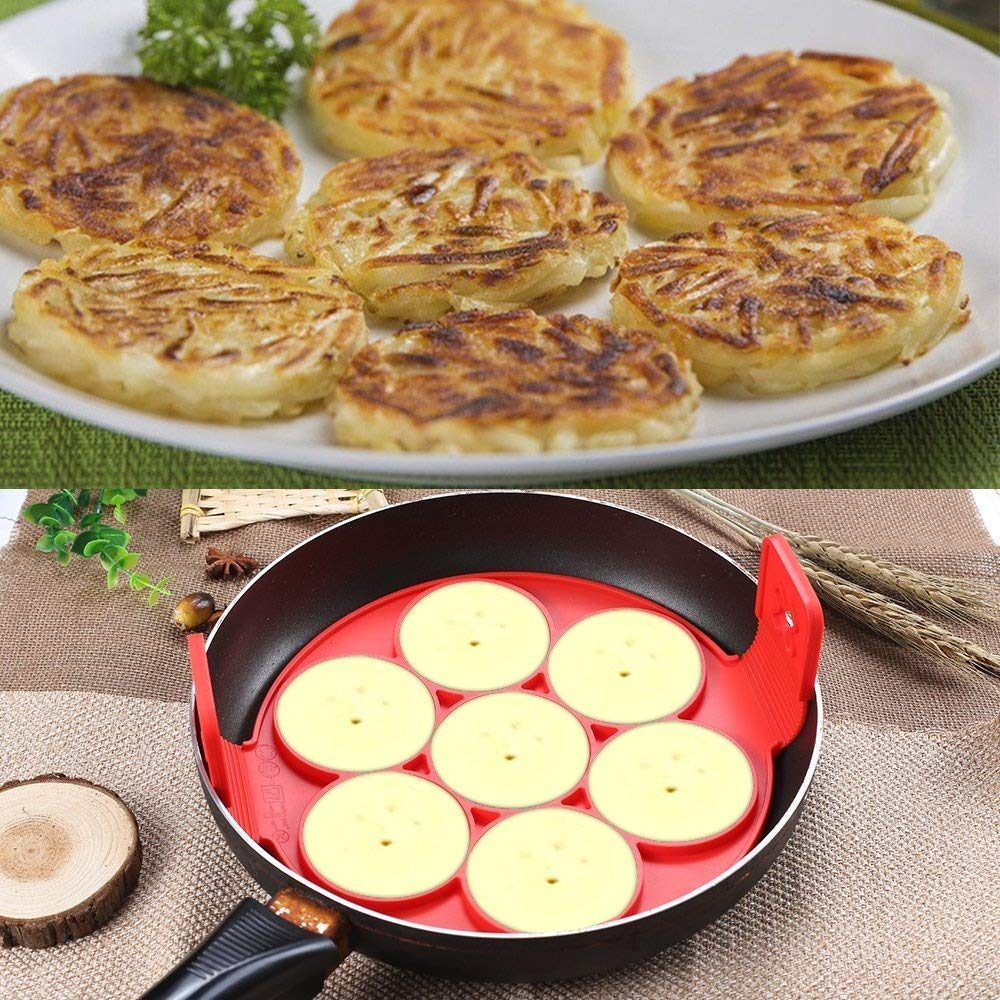 Silicona Pancake Mold, bestwin reutilizable antiadherente ...