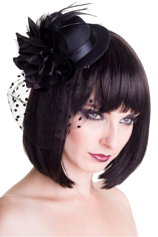 Banned Vintage Big Black Hat