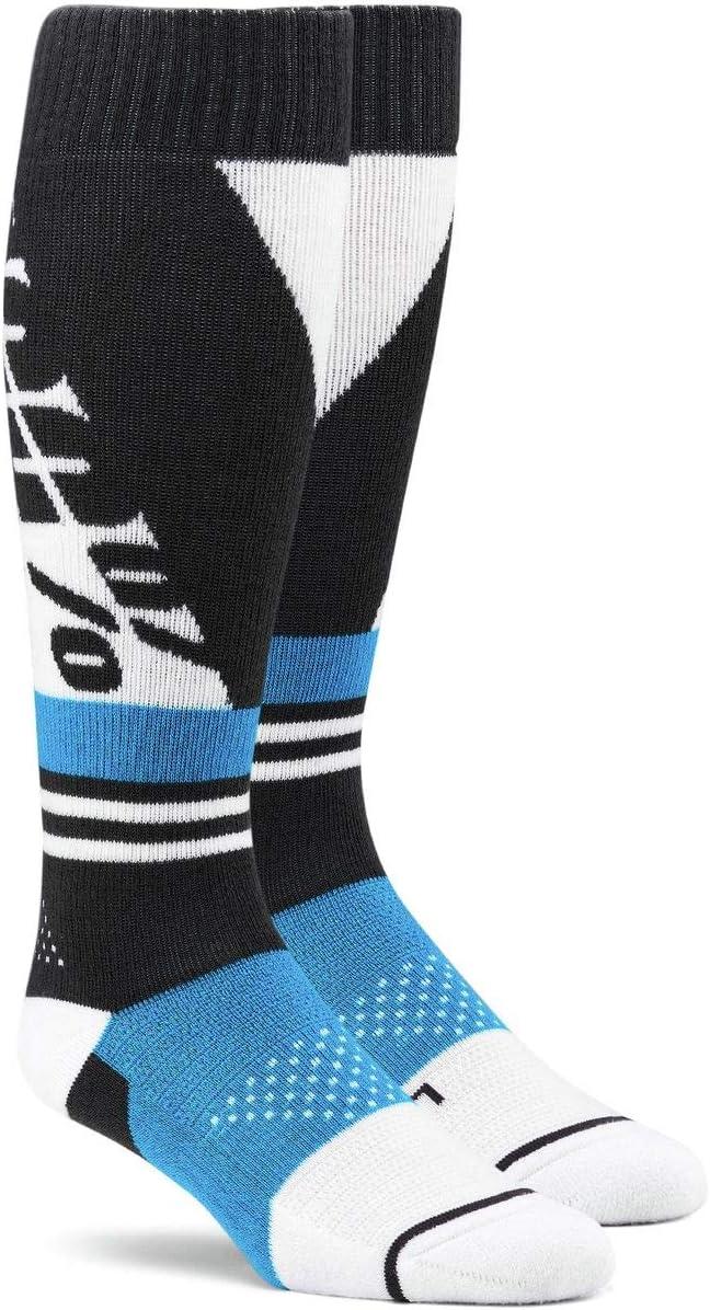 100/% Torque Comfort Moto Socks-Black//Steel Grey-L//XL