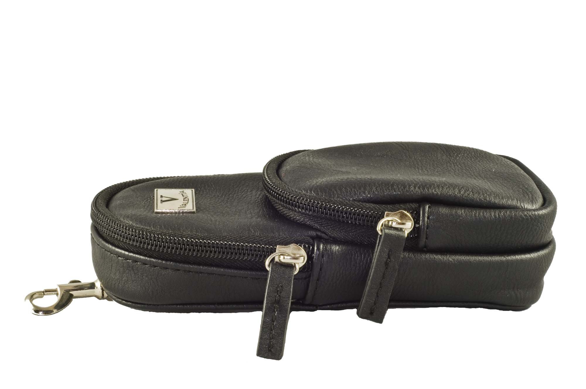 Valentia Cigars Leather Cigar Case, Black
