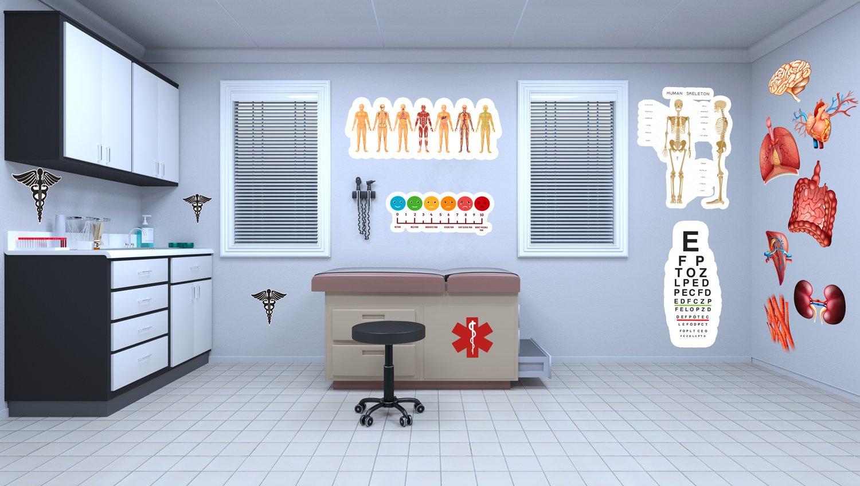 12 PC Medical Office Classroom Vinyl Set
