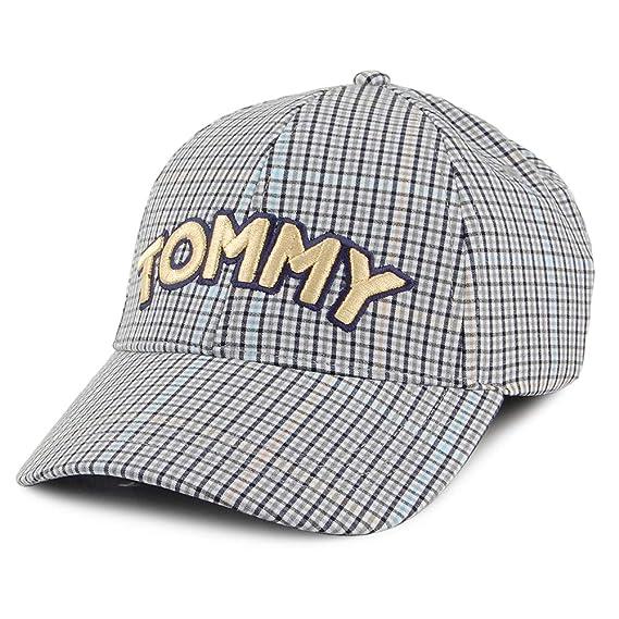 Tommy Hilfiger Gorra de béisbol Tommy Patch a Cuadros Blanco-Negro ...