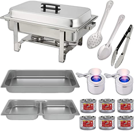 PACK OF EIGHT FULL SIZE FOOD PANS FOR CHAFING DISHES **FREE NEXT DAY DELIVERY**
