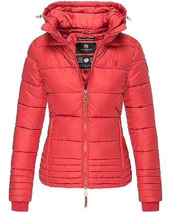 Marikoo Damen Übergangs Steppjacke Herbst Winter Jacke Kapuze 9 Farben XS -  XXL Sole (XS b50bf2bc53