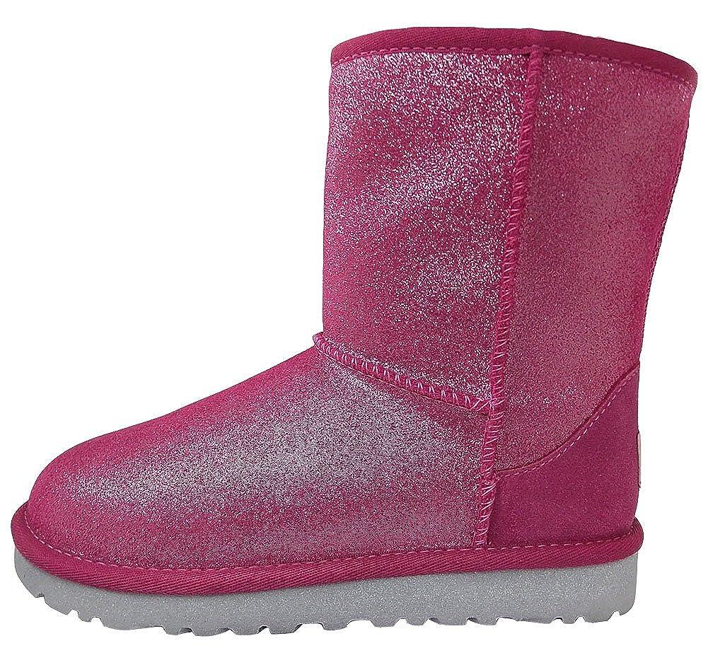 34770a1a785 UGG Unisex 1002495Y Classic Glitter Boots Big Kids Style, Fuchsia, 5