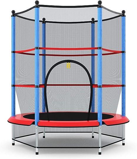 COSTWAY Cama Elástica Infantil Trampolín Jardín 140cm con Red de Seguridad Peso Carga Máximo 50 KG: Amazon.es: Deportes y aire libre