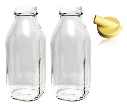 The Dairy Shoppe 1 Qt Glass Milk Bottle