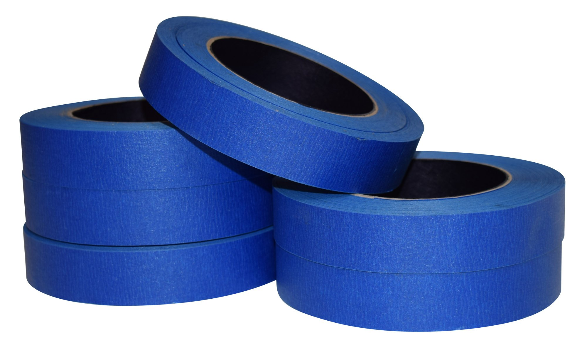 JAK Industrial Blue Painters Tape PROFESSIONAL Grade - CASE of 48 - 1'' x 60 Yards per roll. (24MM .94in) by JAK Industrial (Image #2)