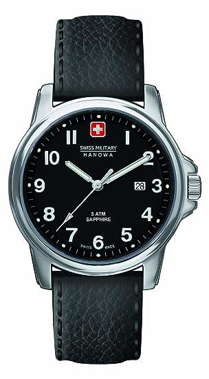 Herren Swiss Analog Military Hanowa Uhren Quarz 32000774 Leder rdCQBsxth