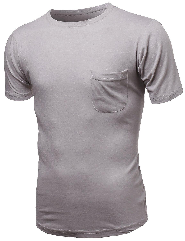 Youstar Mens Curved-Hem Mens Scoop Short Sleeve Tee